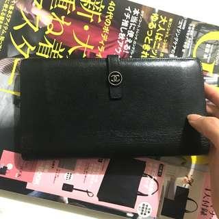 中古 Chanel wallet vintage  長款銀包