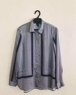 H&M Printed Silky Blouse