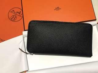 全新Hermes Silk In Long Wallet Epsom