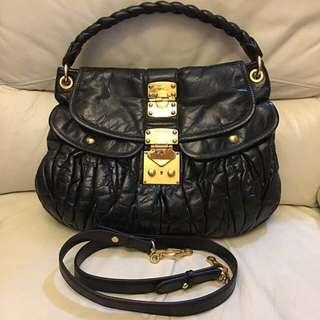Miu Miu 黑色袋   袋口闊:34cm 高:30cm  (袋腰38cm)