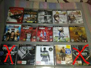 PS3 CD GAMES please click read more.
