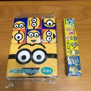 日本直送 Minions紙巾+糖