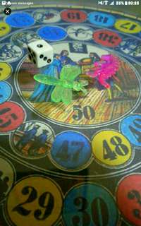 Old Time Upcycle Games  A throwback to the  Nostalgic old time games of the 60s.  1. Robinson Story 2. Chinesen Story  Each at $8   Comes with a dice and 2 kuti kuti seeds  Throw the dice and kick (back to