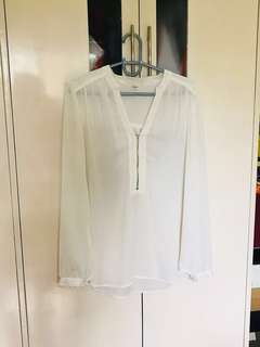 Forever21 Airy Off White Blouse