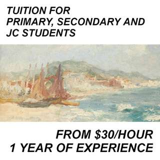 🚚 Tuition for Primary, Secondary and JC Students