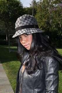 Authentic Gucci Bucket Hat GG Canvas Black