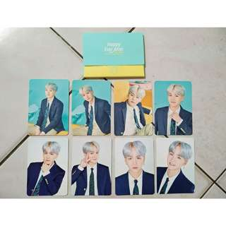 BTS JAPAN 4TH MUSTER SUGA MINI PHOTOCARD COMPLETE SET