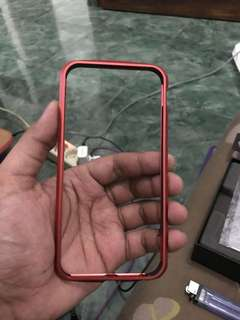 metal bumper luphie iphone 6 or 6s red