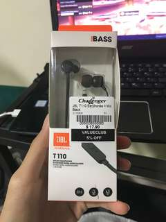BNIB JBL T110 earpiece