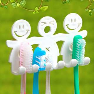 🍀5 Slots Cute Smiling Toothbrush Suction Holder🍀
