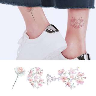 BN instock Temporary Tattoo Temp Tattoos Flower Floral Petals Korean Faded Orchid