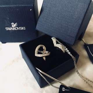 Swarovski Heart Shaped Necklace & Ring