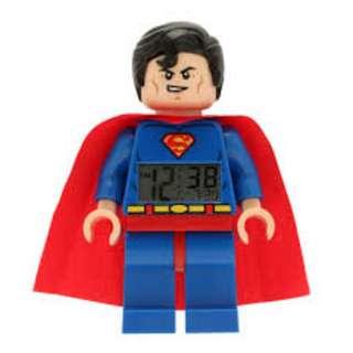 LEGO Superman Alarm Clock for Kids Super HeroesBedroom