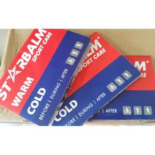 Starbalm warm and cold gels + heat patches