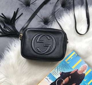 Gucci Disco Bag soho bag in black