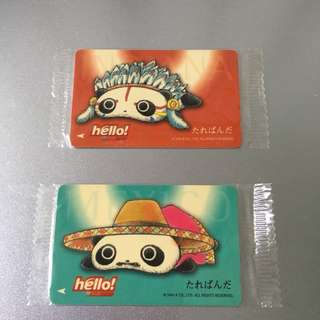Set Of 2 SingTel Telephone Card