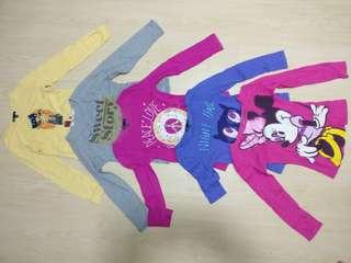 Long Sleeves Girls T-Shirts 6-7 yrs old Gapkids, Uniqlo, Disney