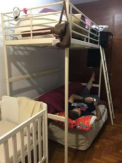 Free double decker bunk bed frame - white