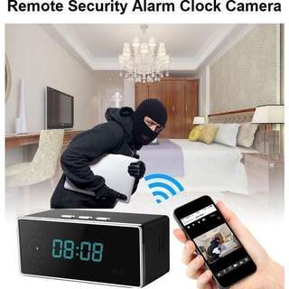 7-STAR* Wireless Wifi Hidden Spy Digital Clock Camera (Full-HD 2.0MP Wide Angle Resolution/Night Vision/Two-Way Audio/Motion Detection/Loop Recording/Rechargeable Battery)