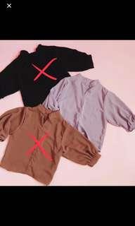 Zuma plain blouse