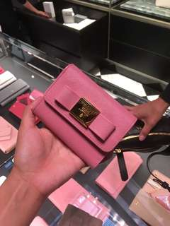 Prada short  wallet 短銀包 十字紋