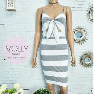 STRIPE SEXY DRESS