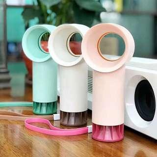 🚚 迷你戴森造型輕巧無葉風扇 攜帶型 可充電風扇  usb小型手持風扇