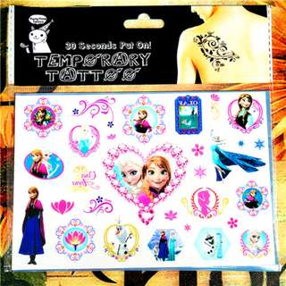 IN STOCK: Temporary Tattoos - Frozen