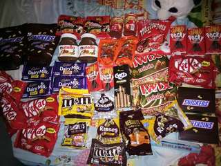 Chocolates and sweets!!!! Stocks come in weekly!!