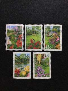 2000 Australia Gardens Issue 5 Values Used Set