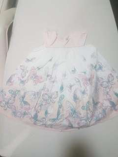 Floral dainty dress bought in CANADA 6 to 12mos