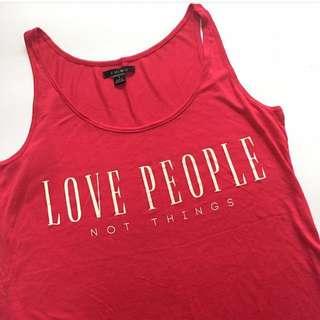 AMISU Dress Love People Not Things