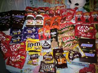 Chocolates and sweets!! Stocks come in weekly!!