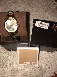 ORIGINAL MICHAEL KORS GOLD WATCH BOUGHT FOR 14,000 but selling it for 7,000 only slightly used