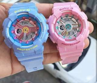 BABY G BA110 CANDY PINK OR CANDY BLUE
