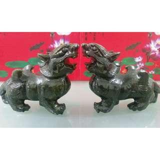 21.5 cm Green Jade Pi Xiu - 21.5 公分东陵玉貔貅