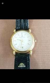 🚚 出清真品艾美錶 原廠錶帶包金 石英錶 功能正常