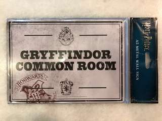Harry Potter Gryffindor Common Room A5 Metal Sign