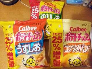 日本各款Calbee薯片