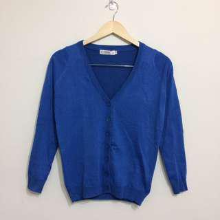 🚚 寶藍針織外套