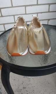Zara golden sneakers