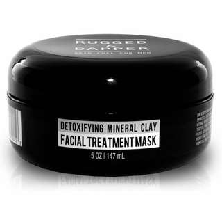 [IN-STOCK] RUGGED & DAPPER - Face Mask for Men - 5.5 oz - Detoxifying Facial Treatment with Kaolin Clay & Aloe - Purifying & Deep Cleansing Formula Helps with Blackheads & Acne – Natural & Organic Ingredients
