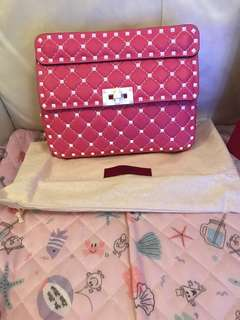 Valentino one shadow pink medium leather Rockstud spike shoulder bag