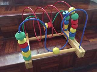 Wooden Toy - Bead Roller Coaster