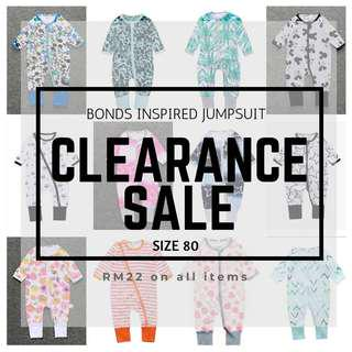 [CLEARANCE SALE] BONDS Inspired Jumspduit - SIZE 80