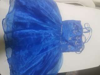 Blue gown dress for 12-18months