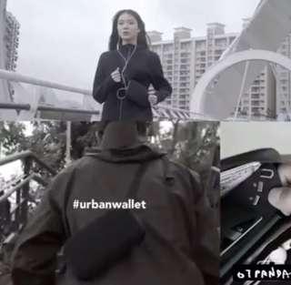 防盜 旅行 袋 黑皮革 防水 防刮 台灣 銀包 包包
