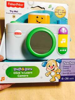 ~Ready Stocked~ Fisher-Price Laugh and Learn Click 'n Learn Camera Toy White