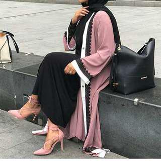 Abaya modern dubai dusty pink