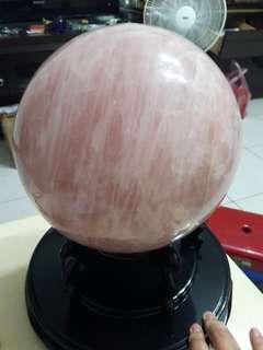 🚚 21公斤粉晶球